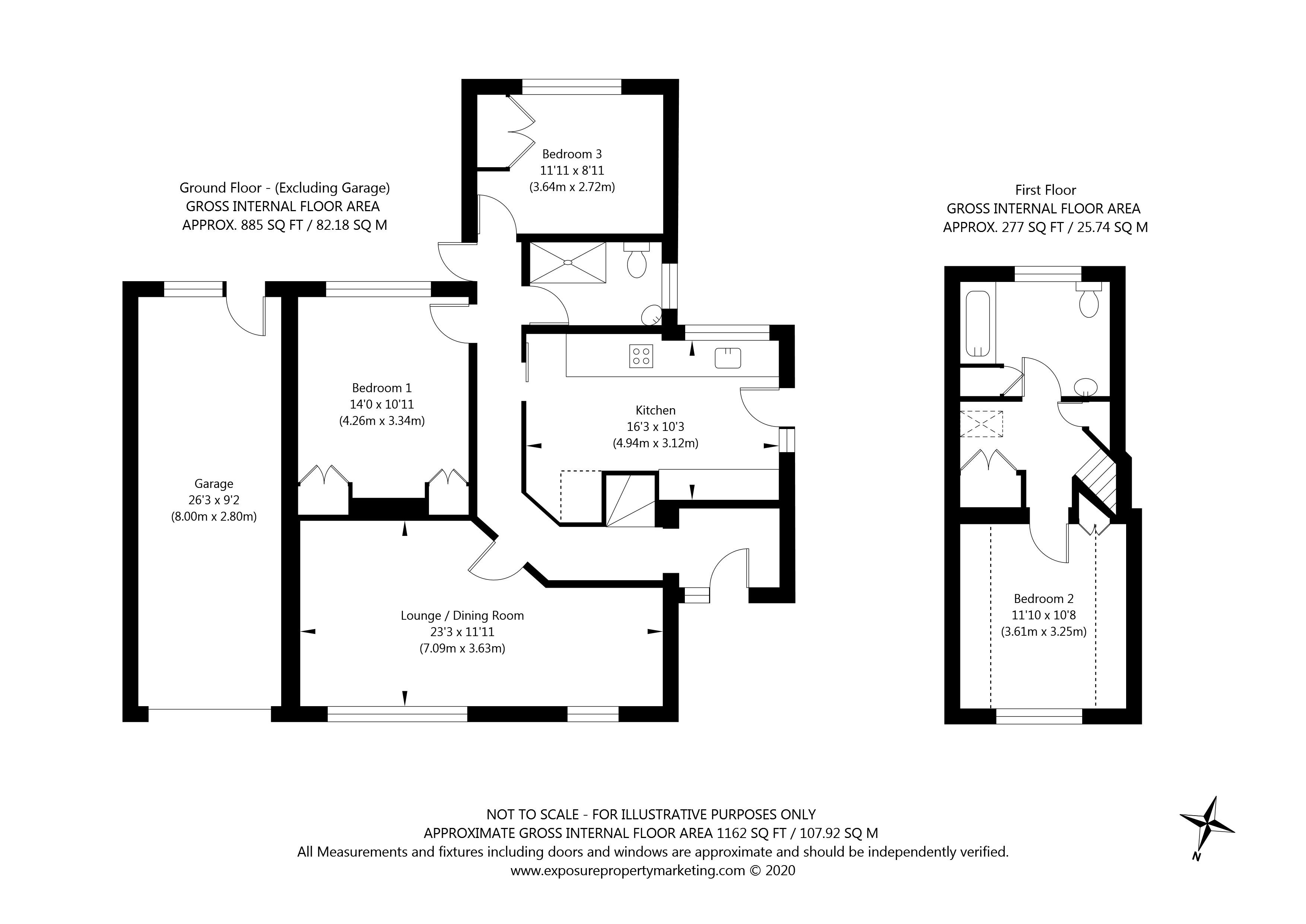 Beech Way, Upper Poppleton, York property floorplan