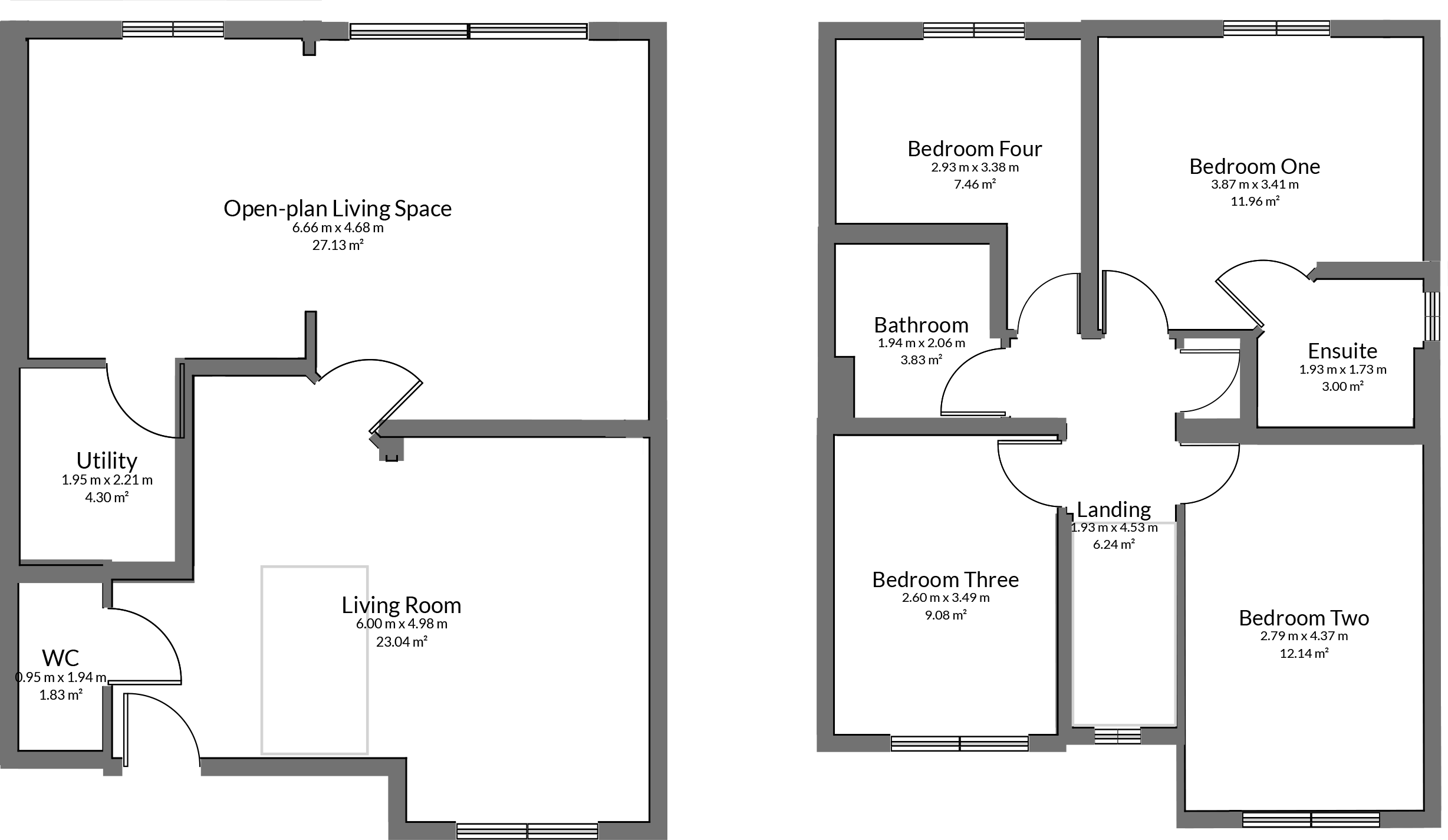 Floorplan for Medlar Close, Bristol.