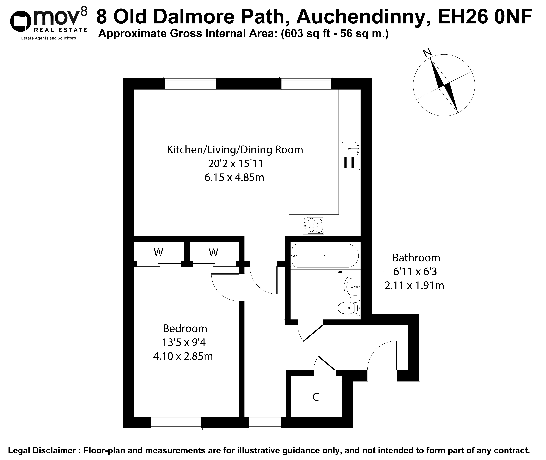 Floorplan 1 of 18 Old Dalmore Path, Auchendinny, Penicuik, Midlothian, EH26 0NF