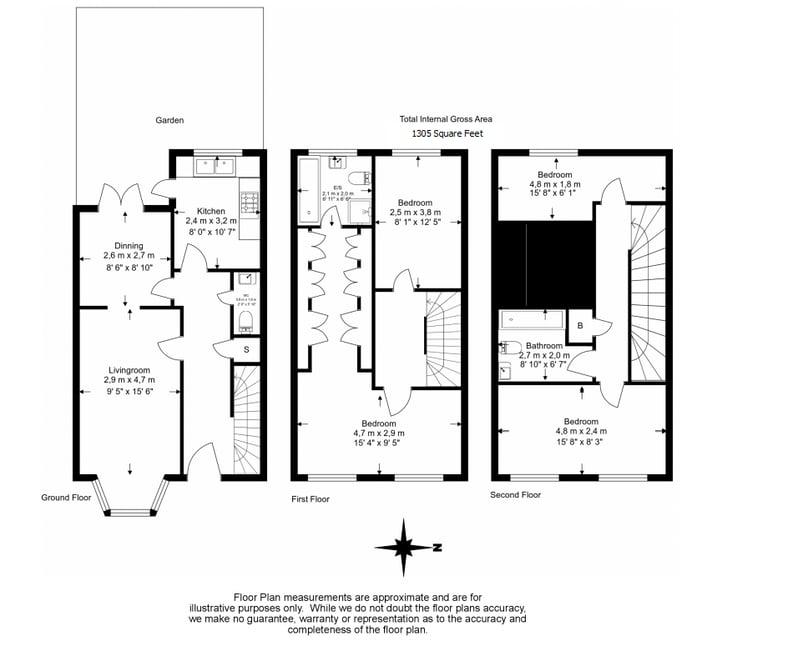 4 bedroom(s) house to sale in Marcia Road, Bermondsey, London-Floorplan