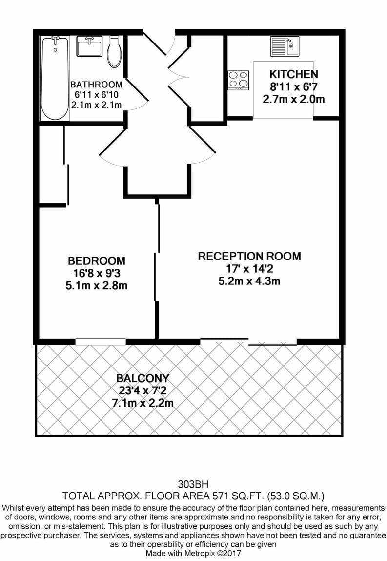 1 bedroom(s) apartment to sale in Butler House, 6 Dixon Butler Mews, London-Floorplan