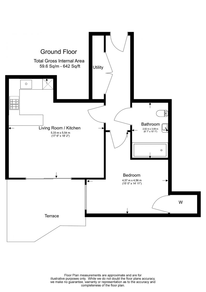 1 bedroom(s) apartment to sale in Goldhawk House, 10 Beaufort Square, London-Floorplan