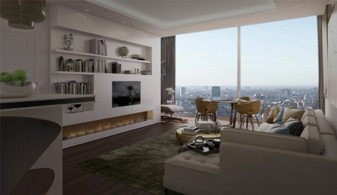 2 bedroom(s) to sale in Carrara Tower, 250 City Road, Islington, London-image 2