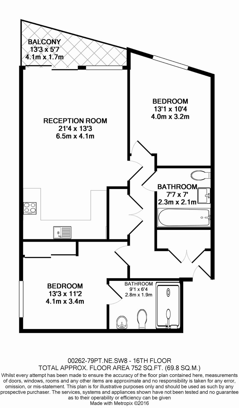 2 bedroom(s) apartment to sale in Pinto Tower, 4 Hebden Place, Nine Elms-Floorplan