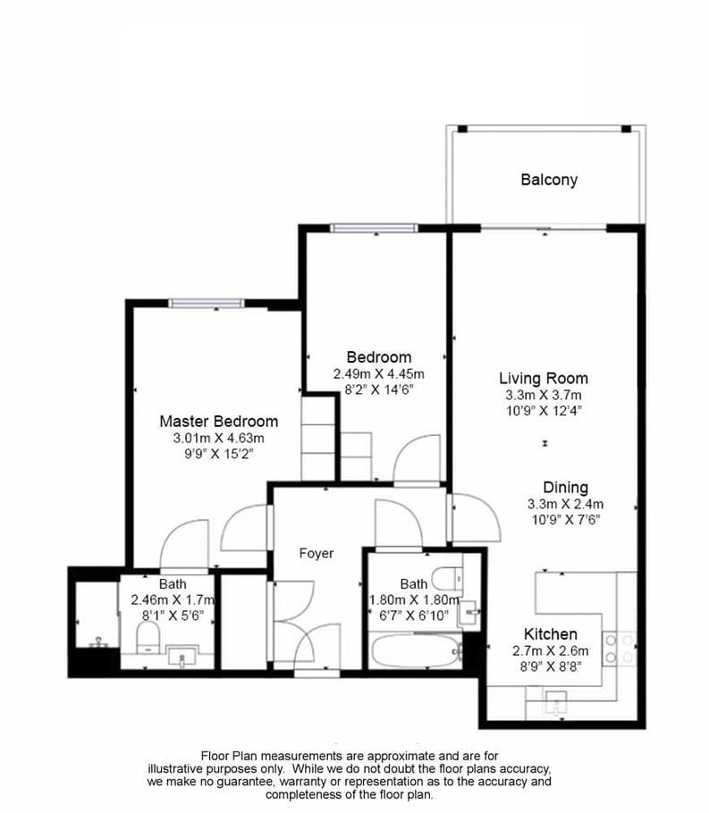2 bedroom(s) apartment to sale in Aerodrome Road, Colindale, London-Floorplan