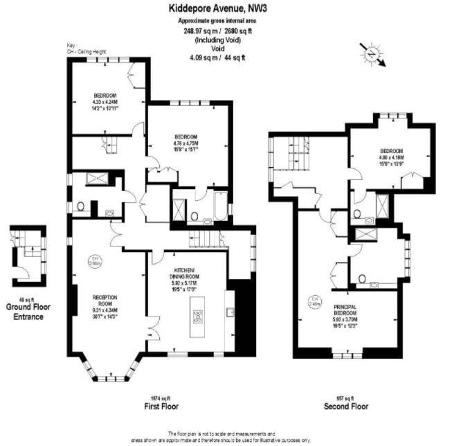 4 bedroom(s) apartment to sale in Kidderpore Avenue, Hampstead, London-Floorplan