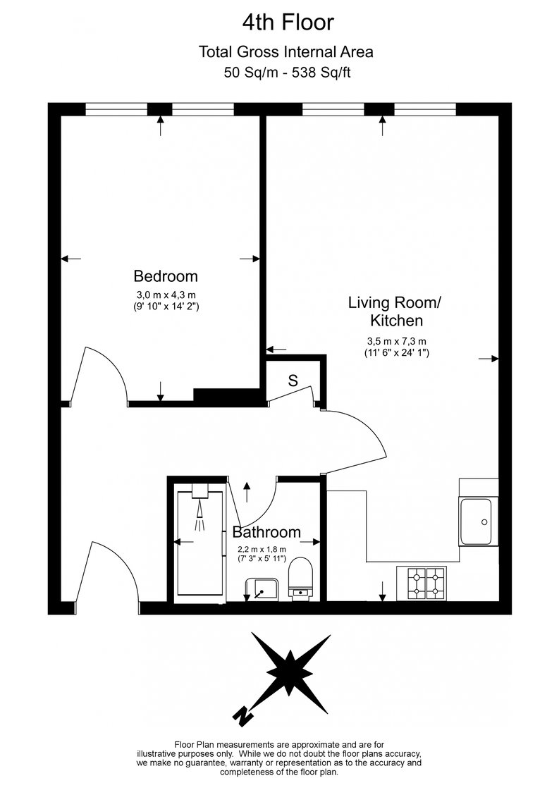 1 bedroom(s) apartment to sale in Warneford Court, Mannock Close, Colindale-Floorplan