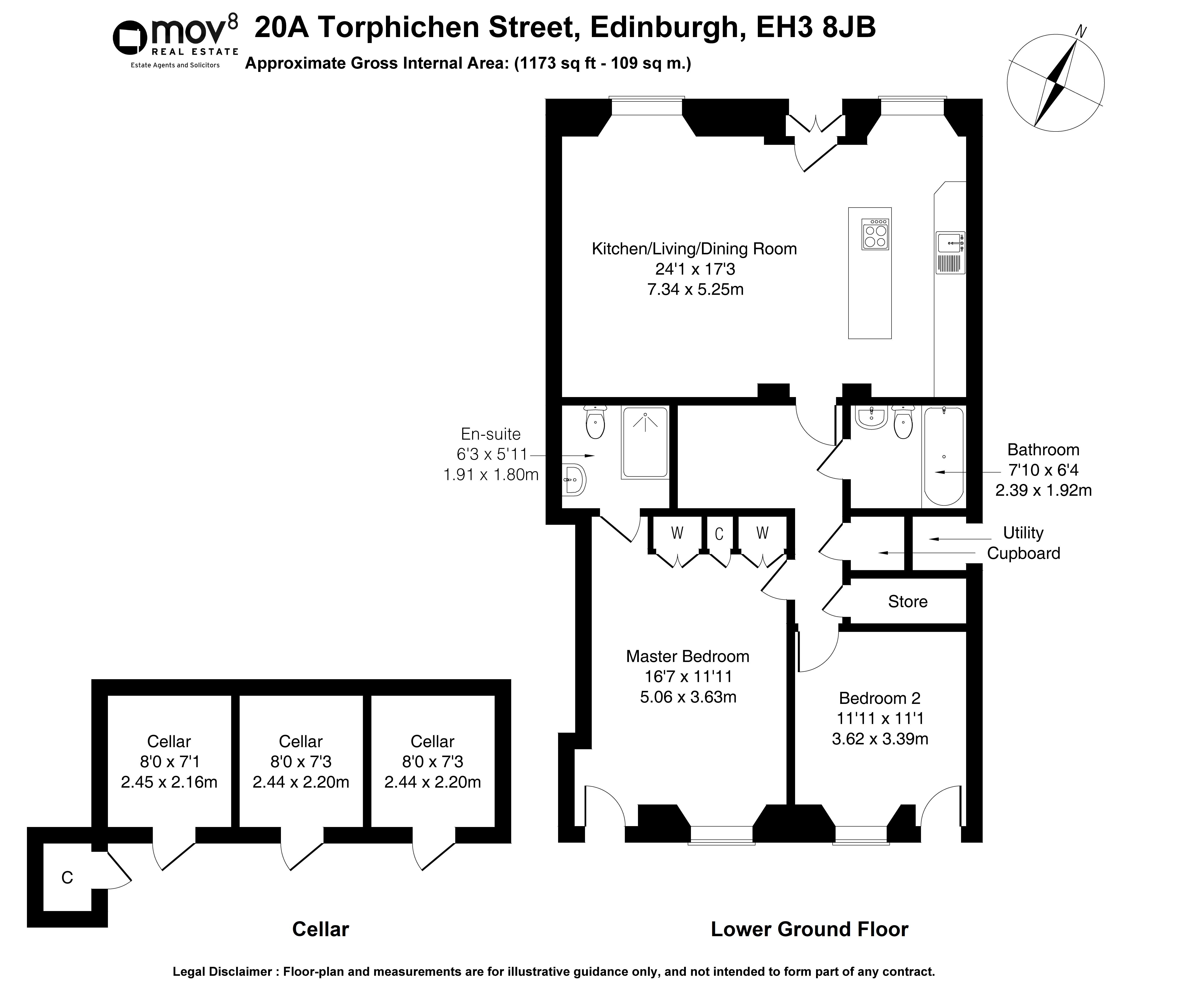 Floorplan 1 of 20a Torphichen Street, West End, Edinburgh, EH3 8JB