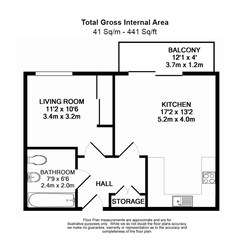 1 bedroom(s) apartment to sale in Cornmill House, 4 Wharf Street, London-Floorplan