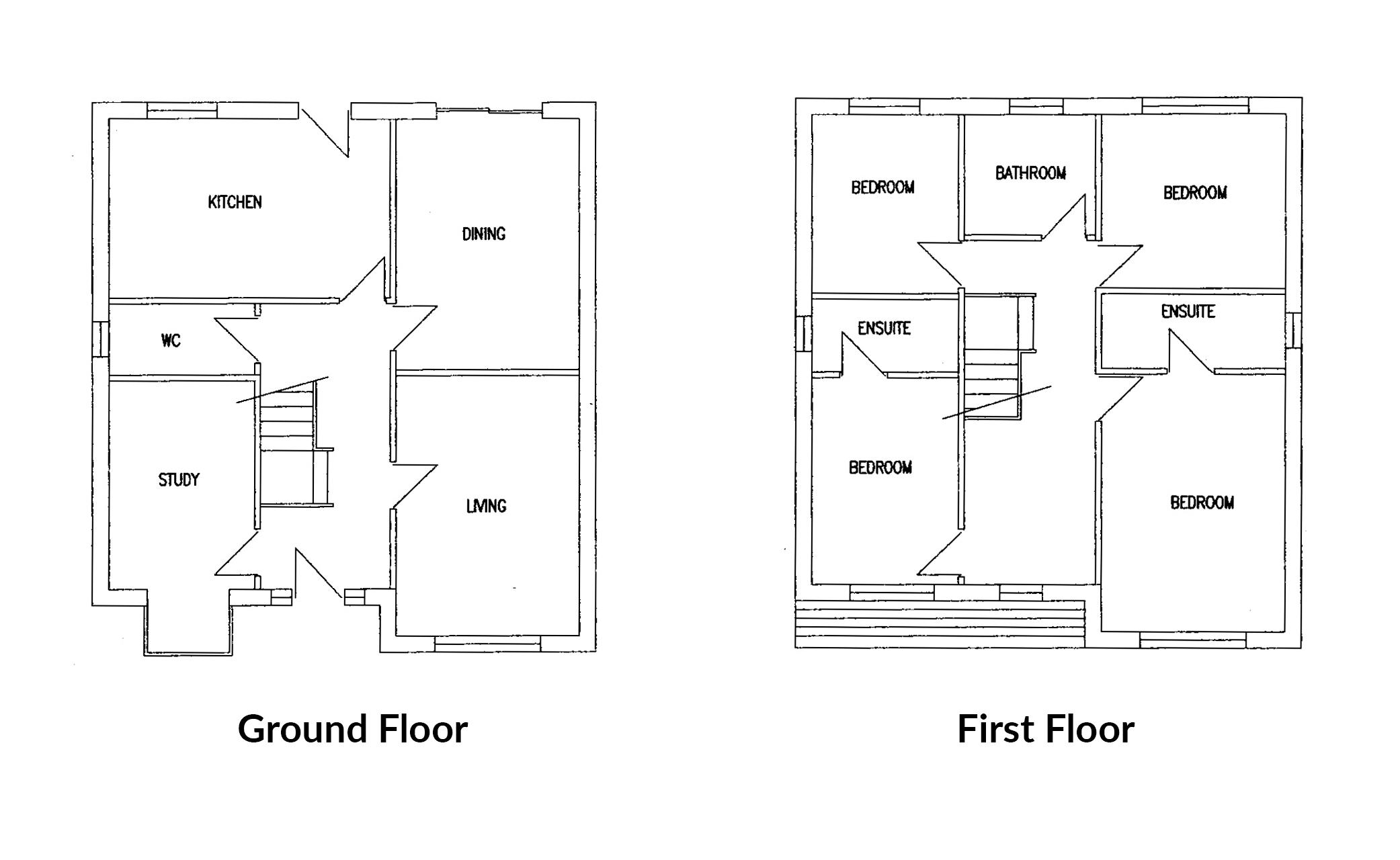 Floorplan for Stanshawes Court Gardens, Yate.
