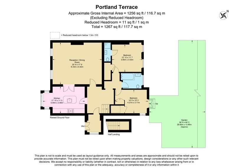 2 bedroom(s) apartment to sale in The Green, Surrey, Richmond-Floorplan