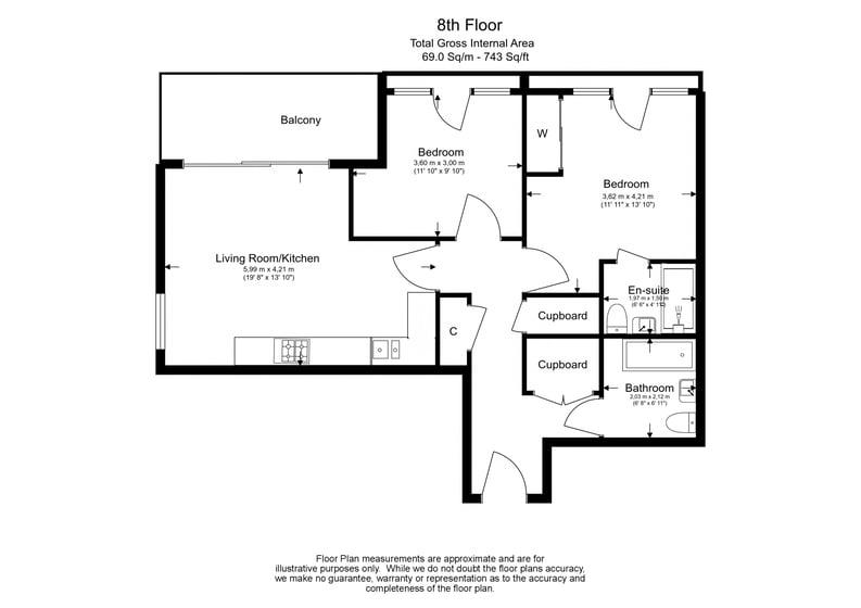 2 bedroom(s) apartment to sale in Moorhen Drive, Hendon, London-Floorplan