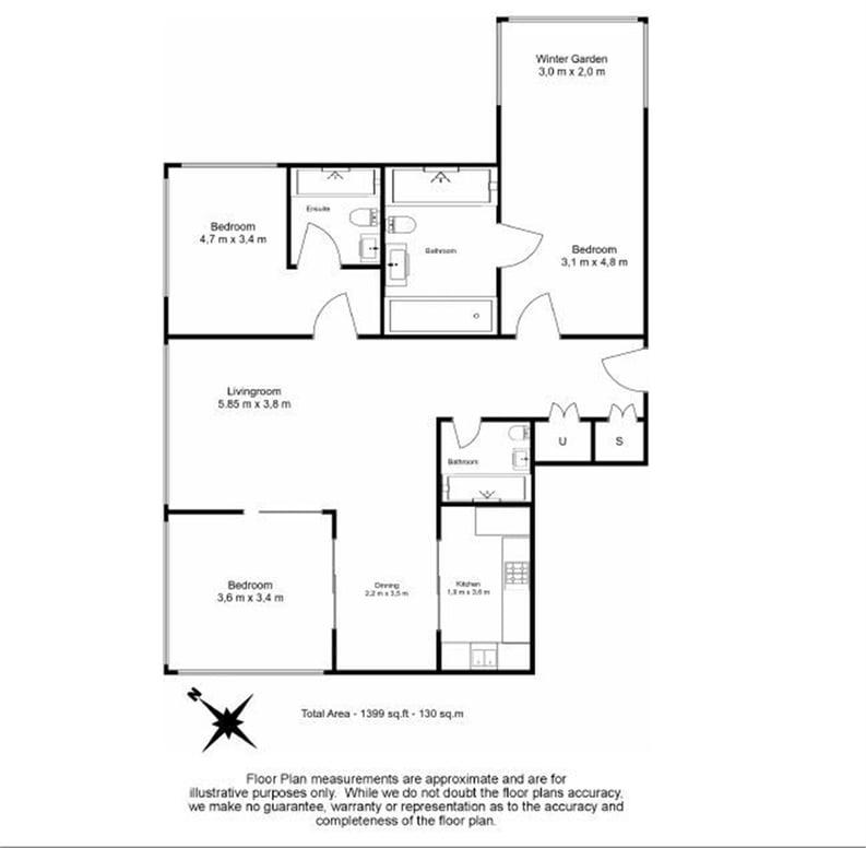 3 bedroom(s) apartment to sale in Meranti House, Leman Street, Goodmans Fields, Aldgate-Floorplan