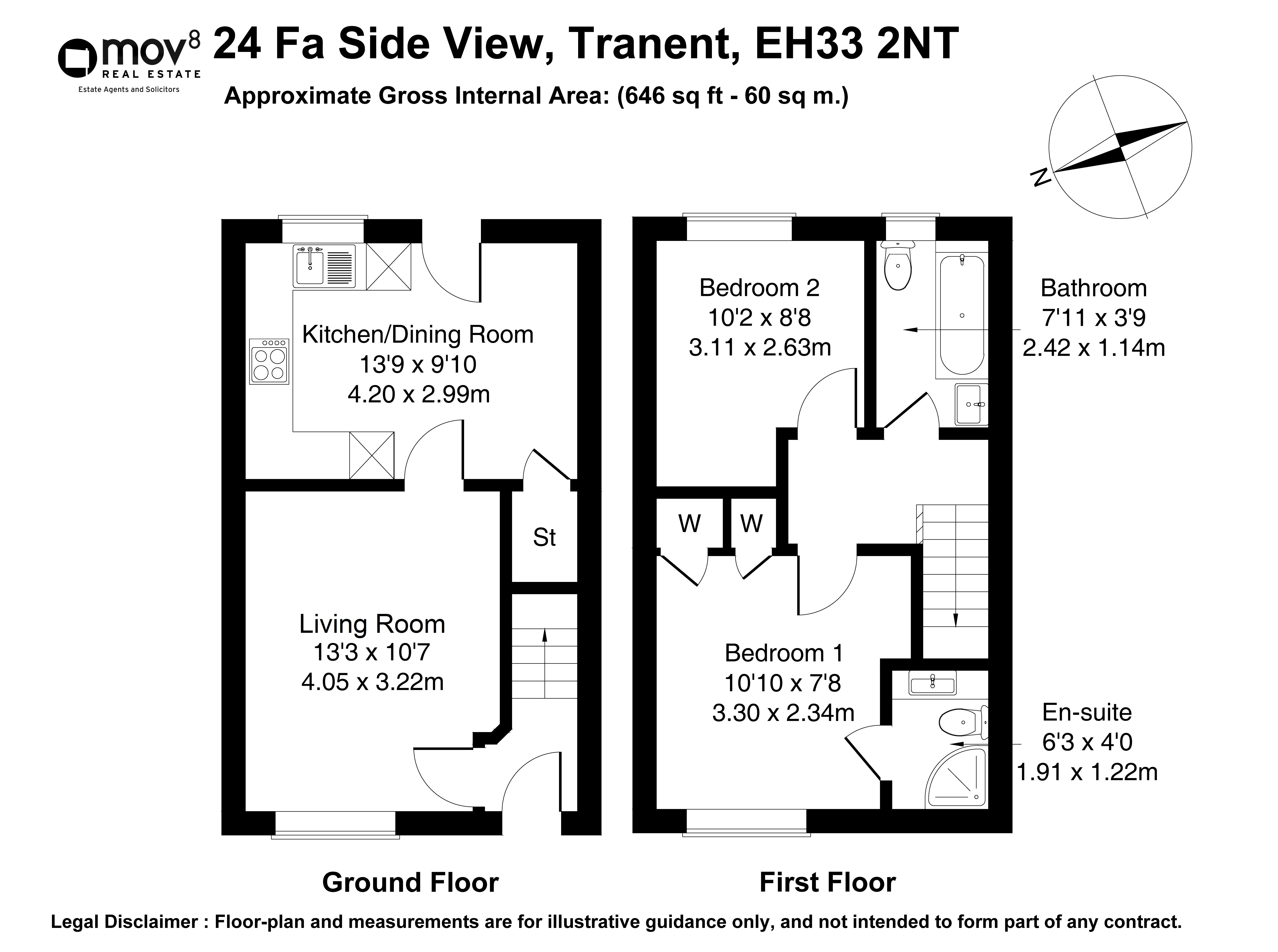 Floorplan 1 of 24 Fa'side View, Tranent, East Lothian, EH33 2NT