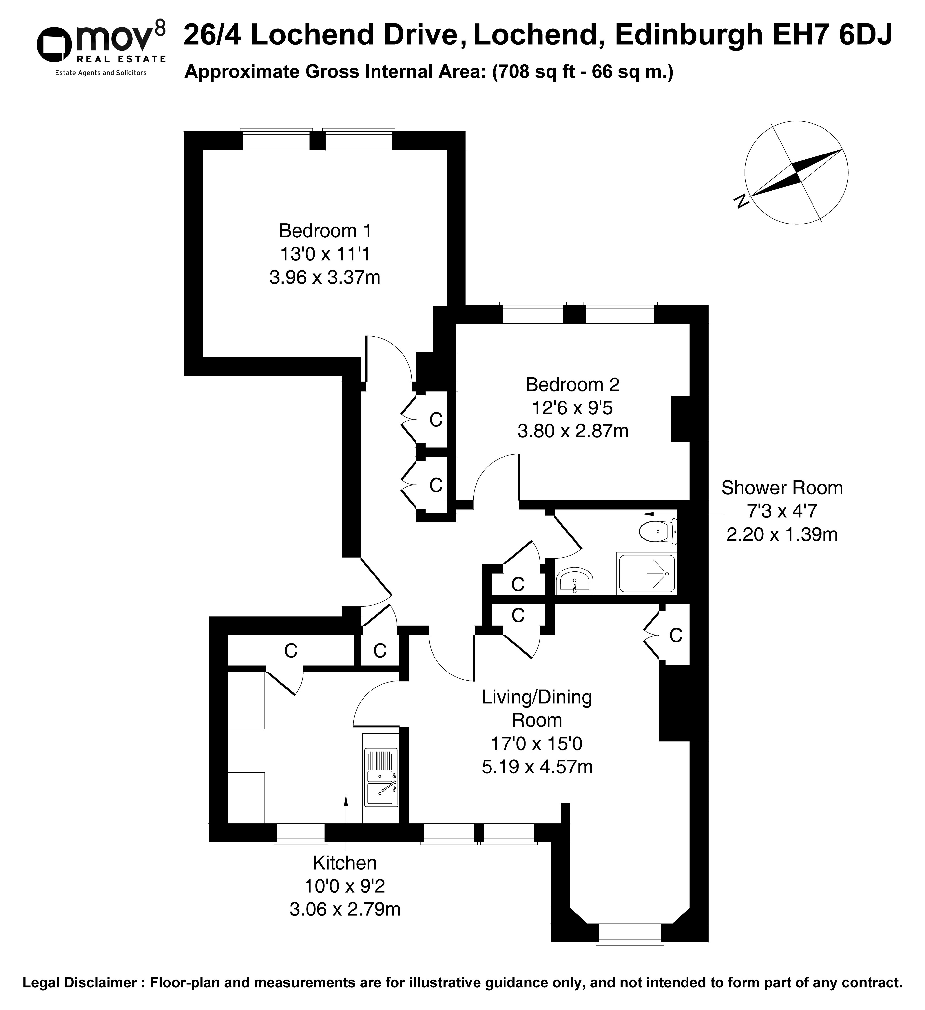 Floorplan 1 of 26/4, Lochend Drive, Lochend, Edinburgh, EH7 6DJ