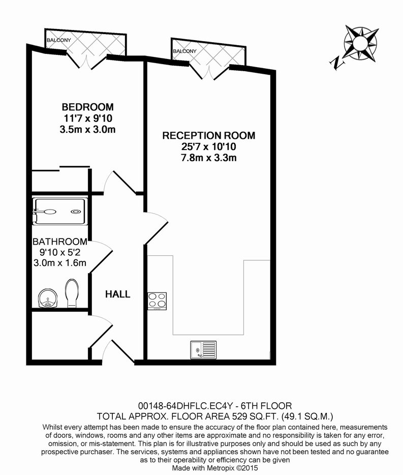 1 bedroom(s) apartment to sale in St Dunstans House, 133-137 Fetter Lane, Holborn-Floorplan