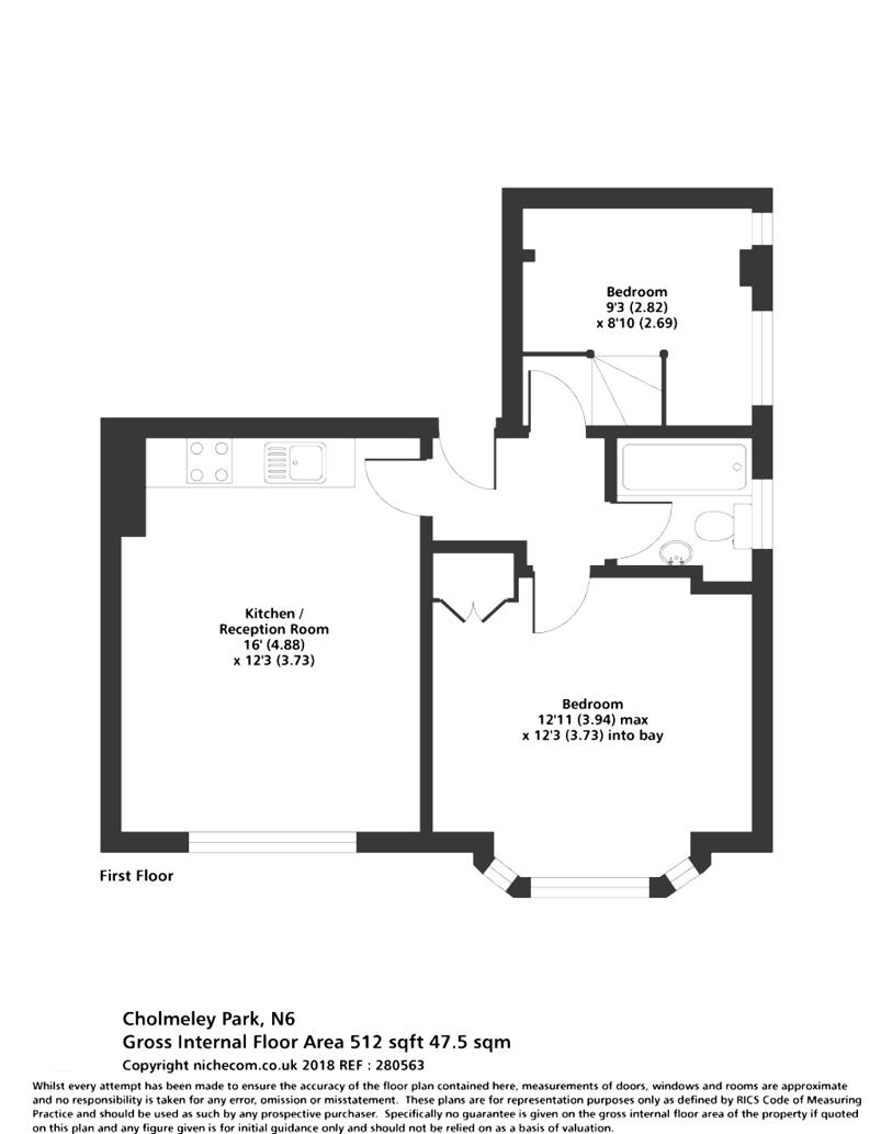 2 bedroom(s) apartment to sale in Cholmeley Park, Highgate Village, London-Floorplan