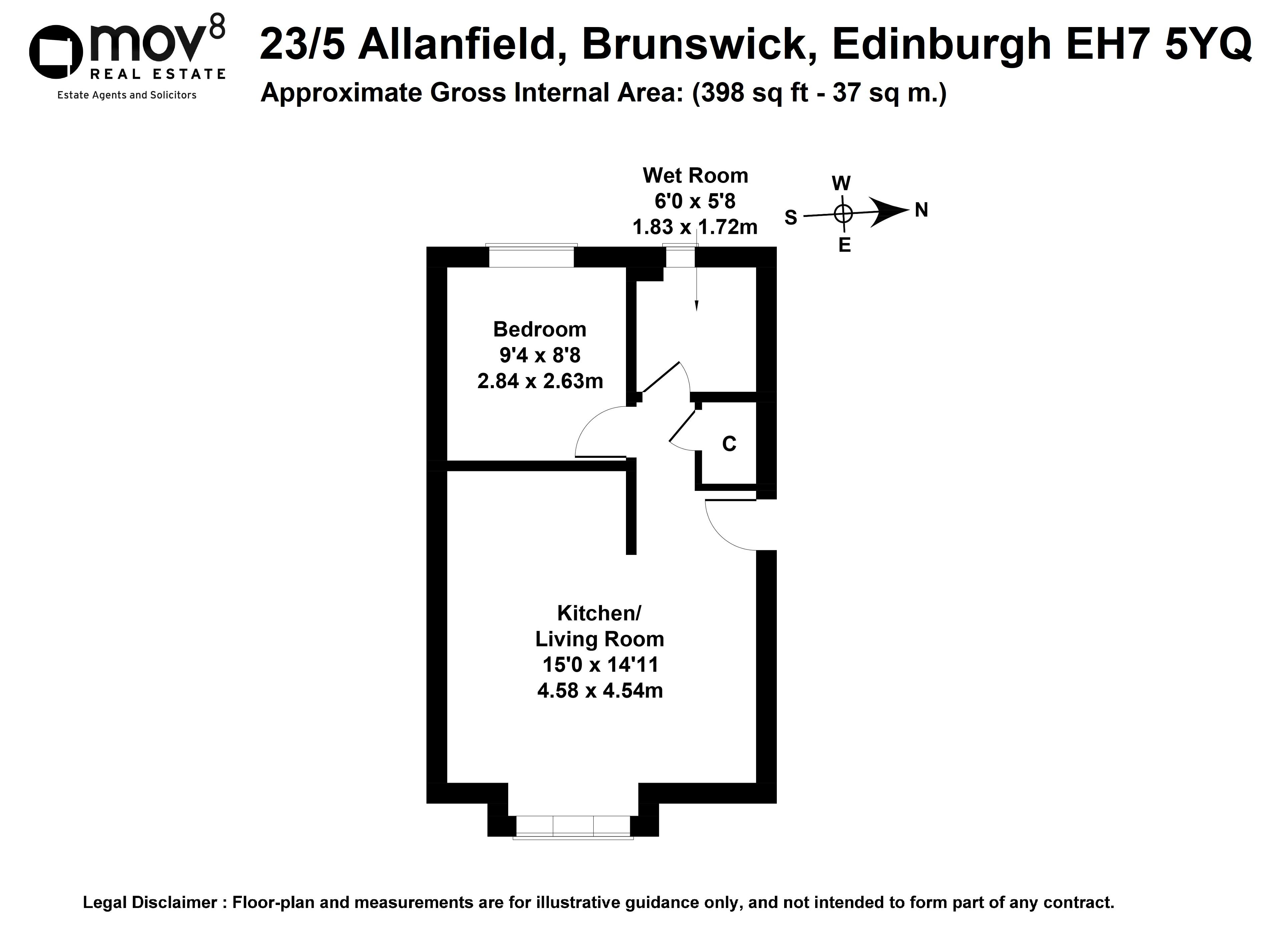 Floorplan 1 of 23/5, Allanfield, Brunswick, Edinburgh, EH7 5YQ