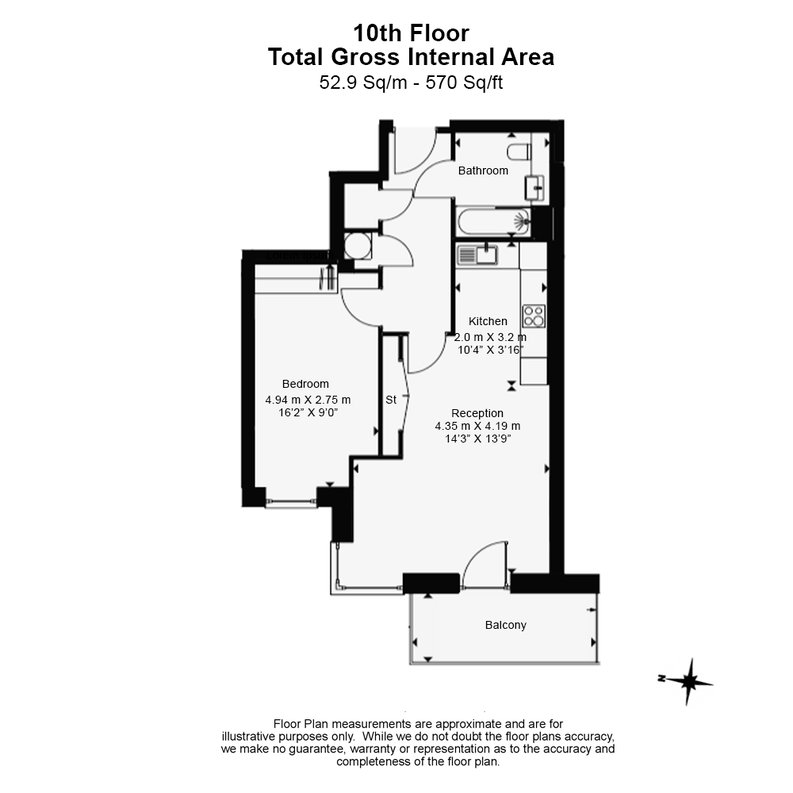 1 bedroom(s) apartment to sale in Marathon House, Olympic Way, Greater London, Wembley-Floorplan