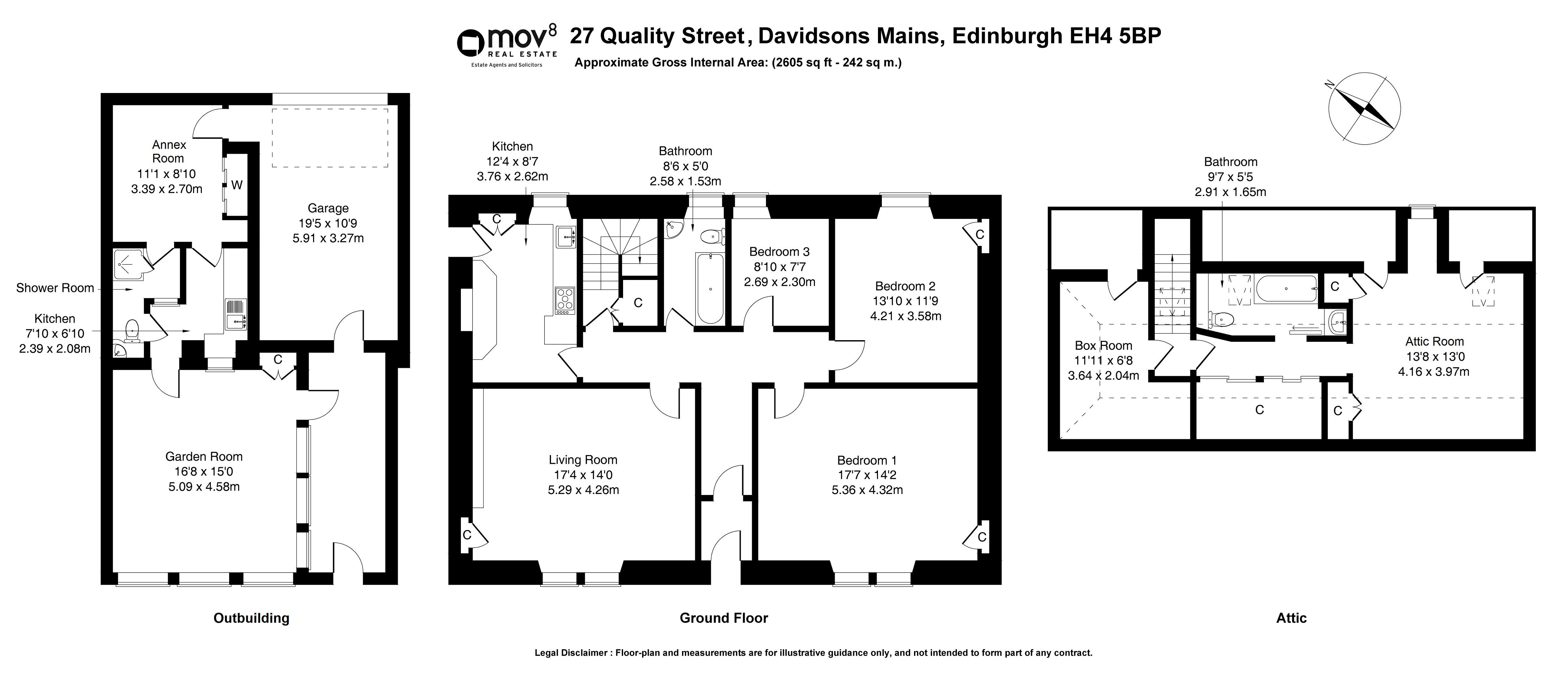Floorplan 1 of 27 Quality Street, Davidsons Mains, Edinburgh, EH4 5BP