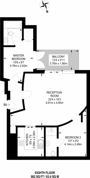 1 bedroom(s) apartment to sale in Harbour Reach, Imperial Wharf, London-Floorplan