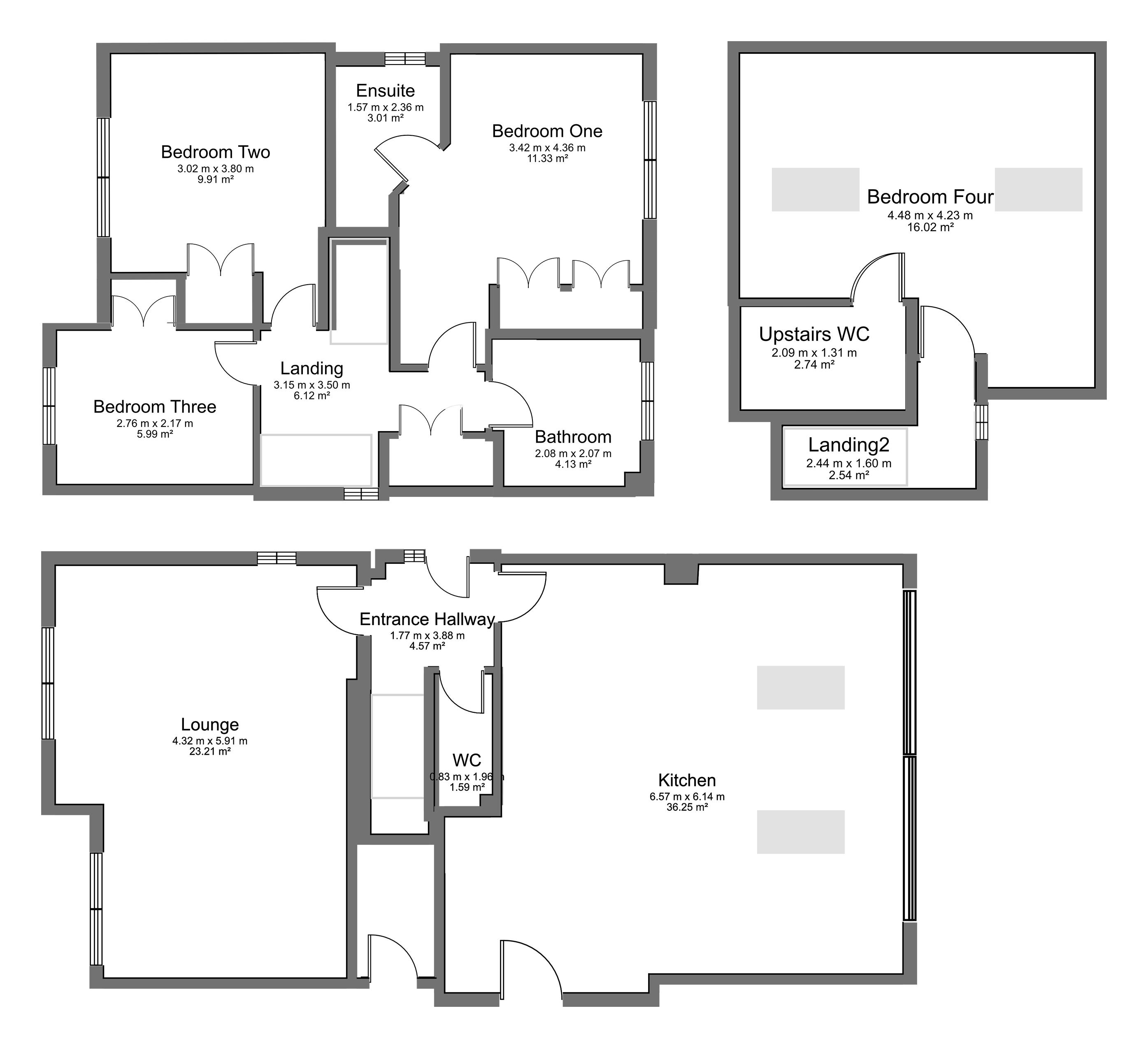 Floorplan for Cornfield Close, Bradley Stoke.
