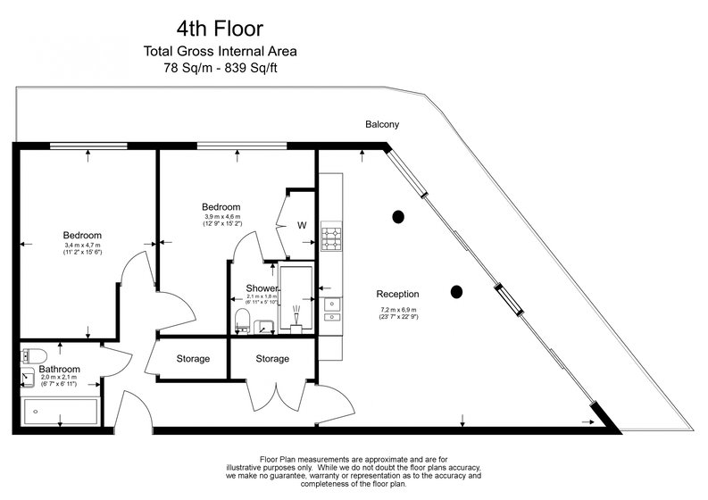 2 bedroom(s) apartment to sale in Edmunds House, Colonial Drive, Chiswick-Floorplan