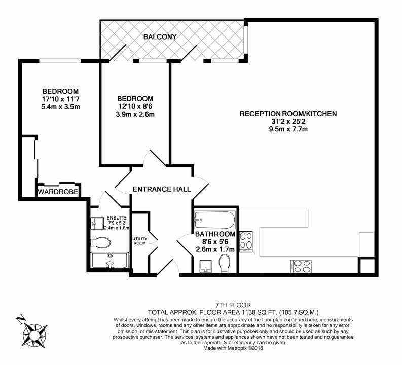 2 bedroom(s) apartment to sale in Longfield Avenue, Ealing, London-Floorplan