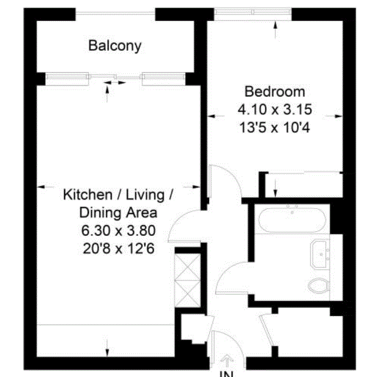 1 bedroom(s) apartment to sale in Pump House Crescent, Greater London, Brentford-Floorplan