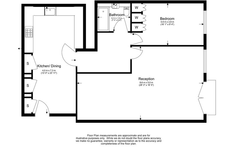 1 bedroom(s) apartment to sale in Wexner Building, 2 Strype Street, Spitalfields-Floorplan