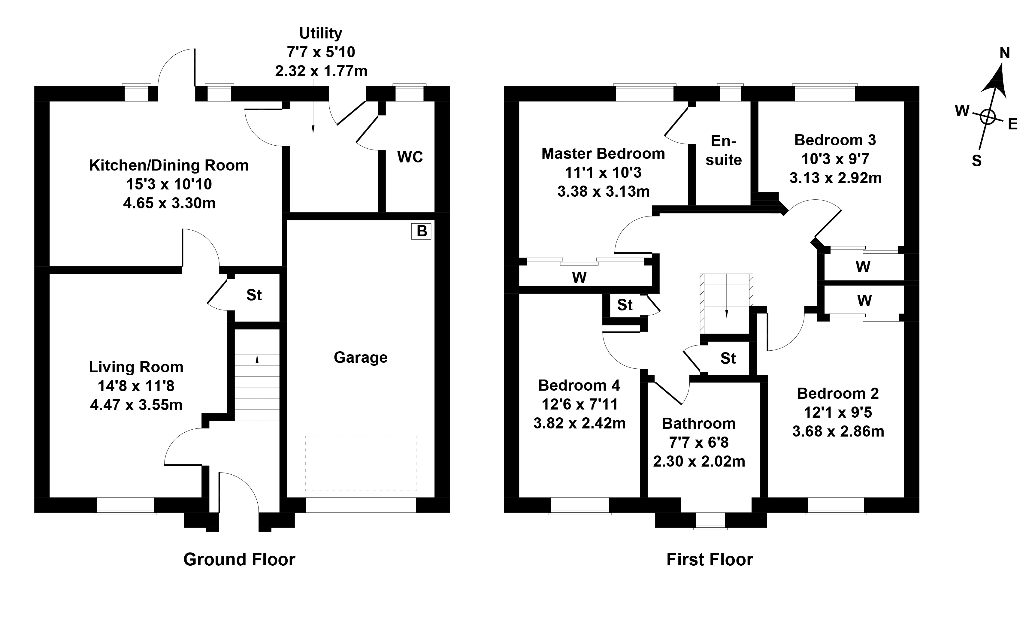 Floorplan 1 of 13 Howatston Court, Livingston, West Lothian, EH54 7FF