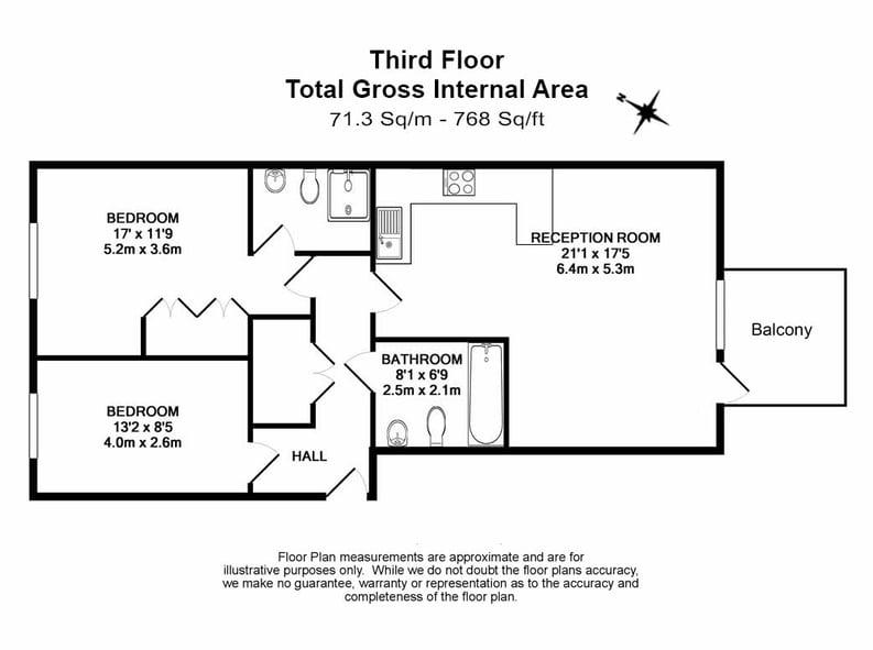 2 bedroom(s) apartment to sale in Eden Grove, Islington, London-Floorplan
