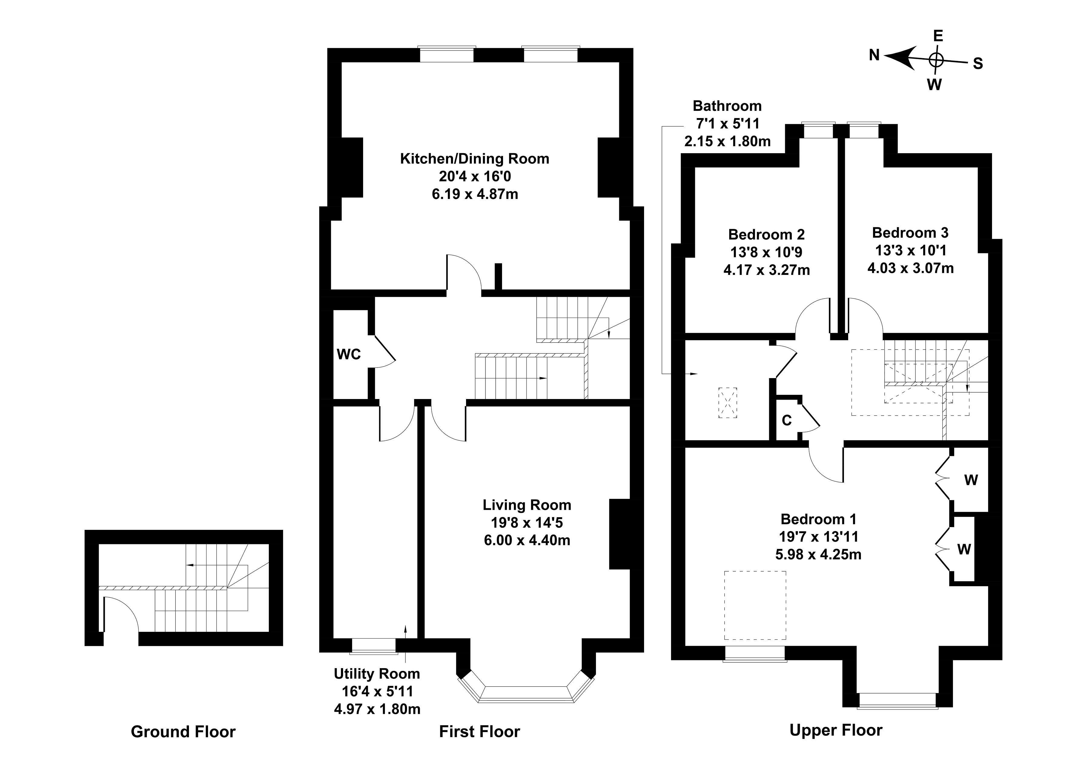 Floorplan 1 of Flat 2, 7 Pentland Terrace, Comiston, Edinburgh, EH10 6EY