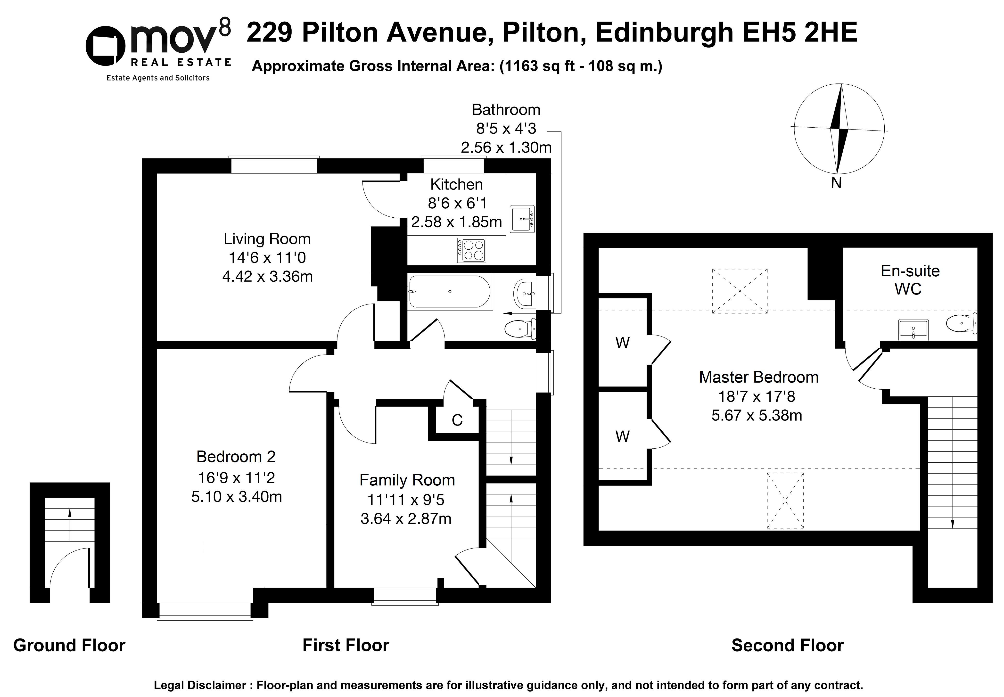 Floorplan 1 of 229 Pilton Avenue, Pilton, Edinburgh, EH5 2HE