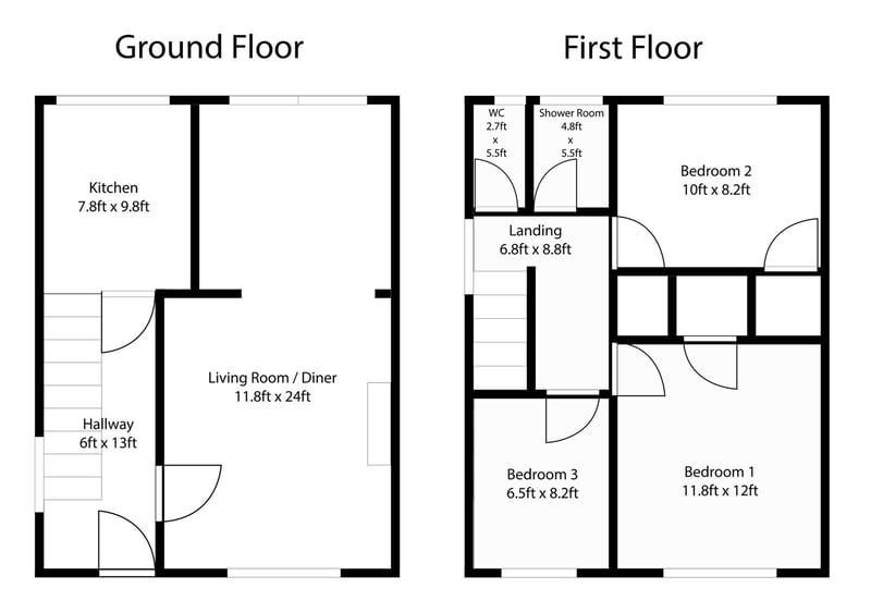 End of Terrace House floorplan