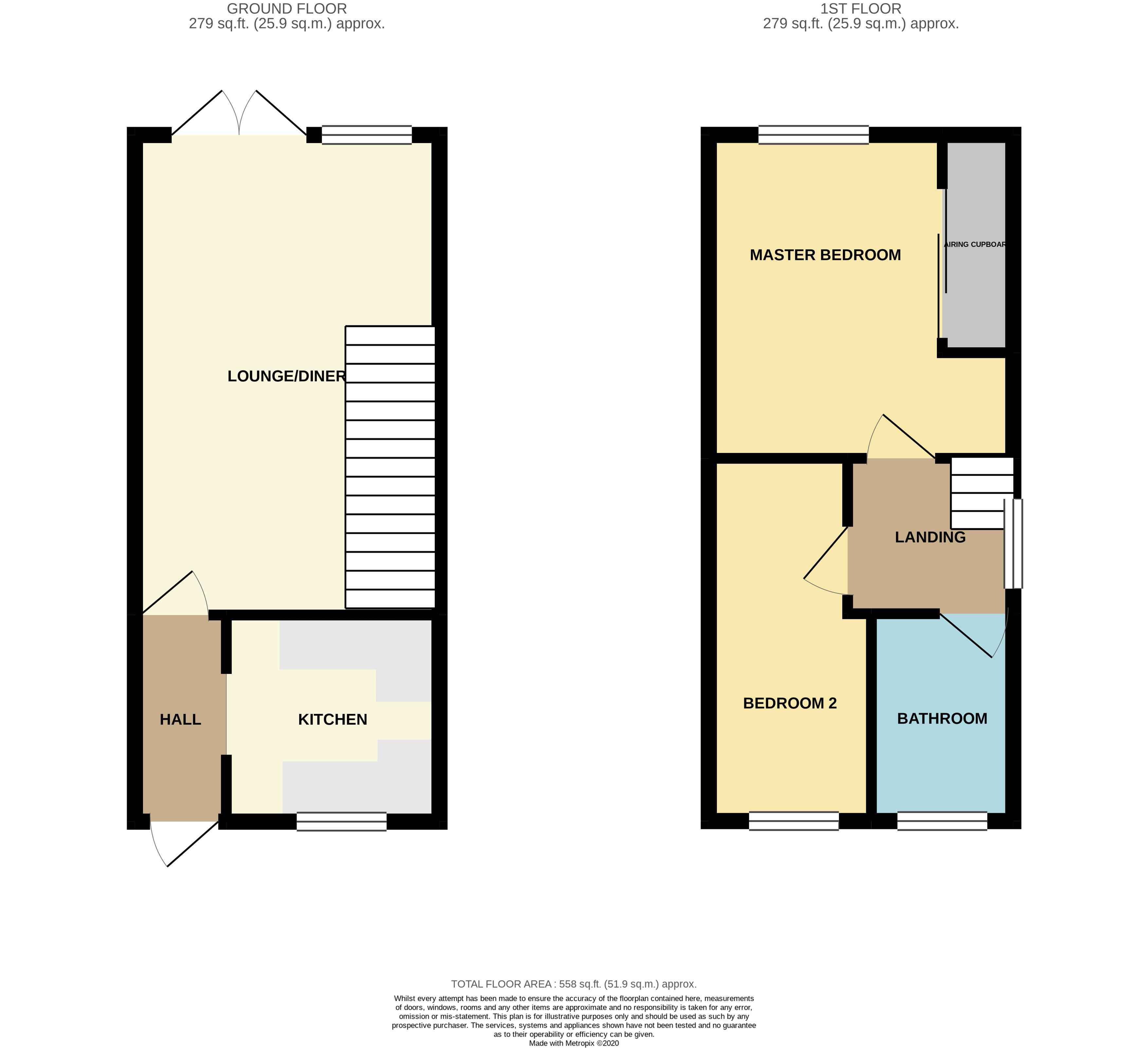 Floorplan for Parnall Crescent, Yate.