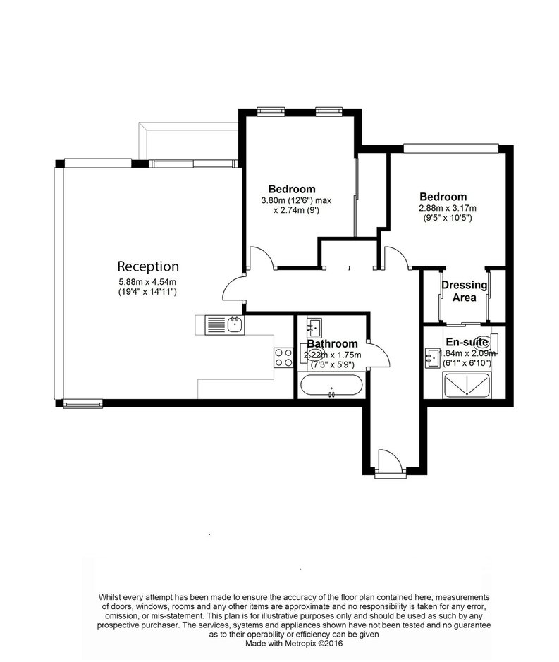 2 bedroom(s) apartment to sale in 1 Pan Peninsula Square, West Tower, Canary Wharf , London-Floorplan