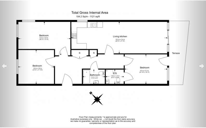 3 bedroom(s) apartment to sale in Edge Apartments, 1 Lett Road, Stratford-Floorplan