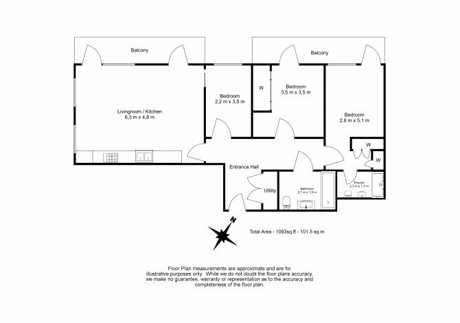 3 bedroom(s) apartment to sale in Tritton House, 3 Ryeland Boulevard, Ram Quarter , Wandsworth-Floorplan