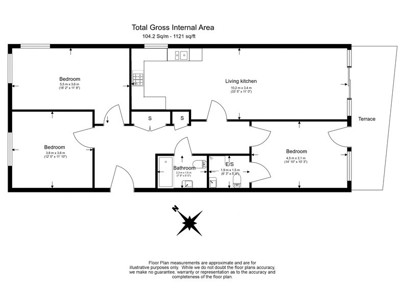 3 bedroom(s) apartment to sale in Edge Apartments, Lett Road, Stratford , London-Floorplan