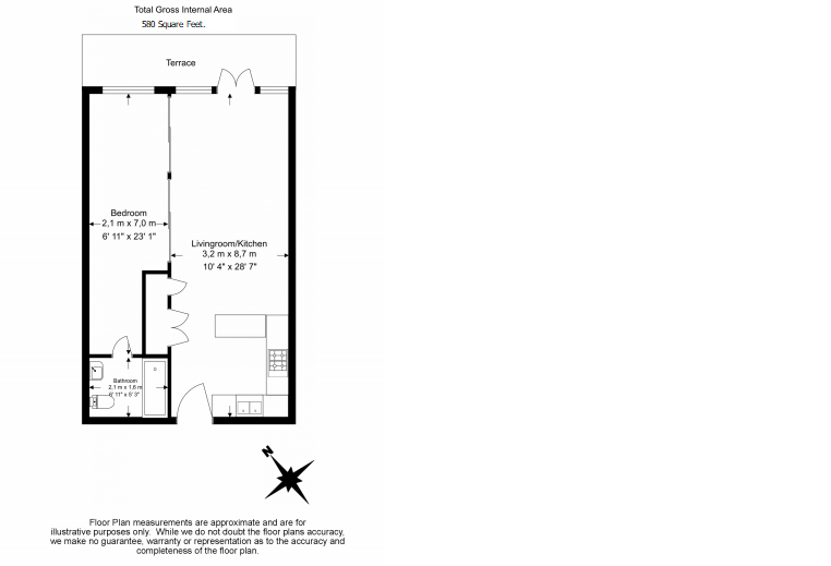 1 bedroom(s) apartment to sale in Denham House, 17 Park Lodge Avenue, West Drayton-Floorplan