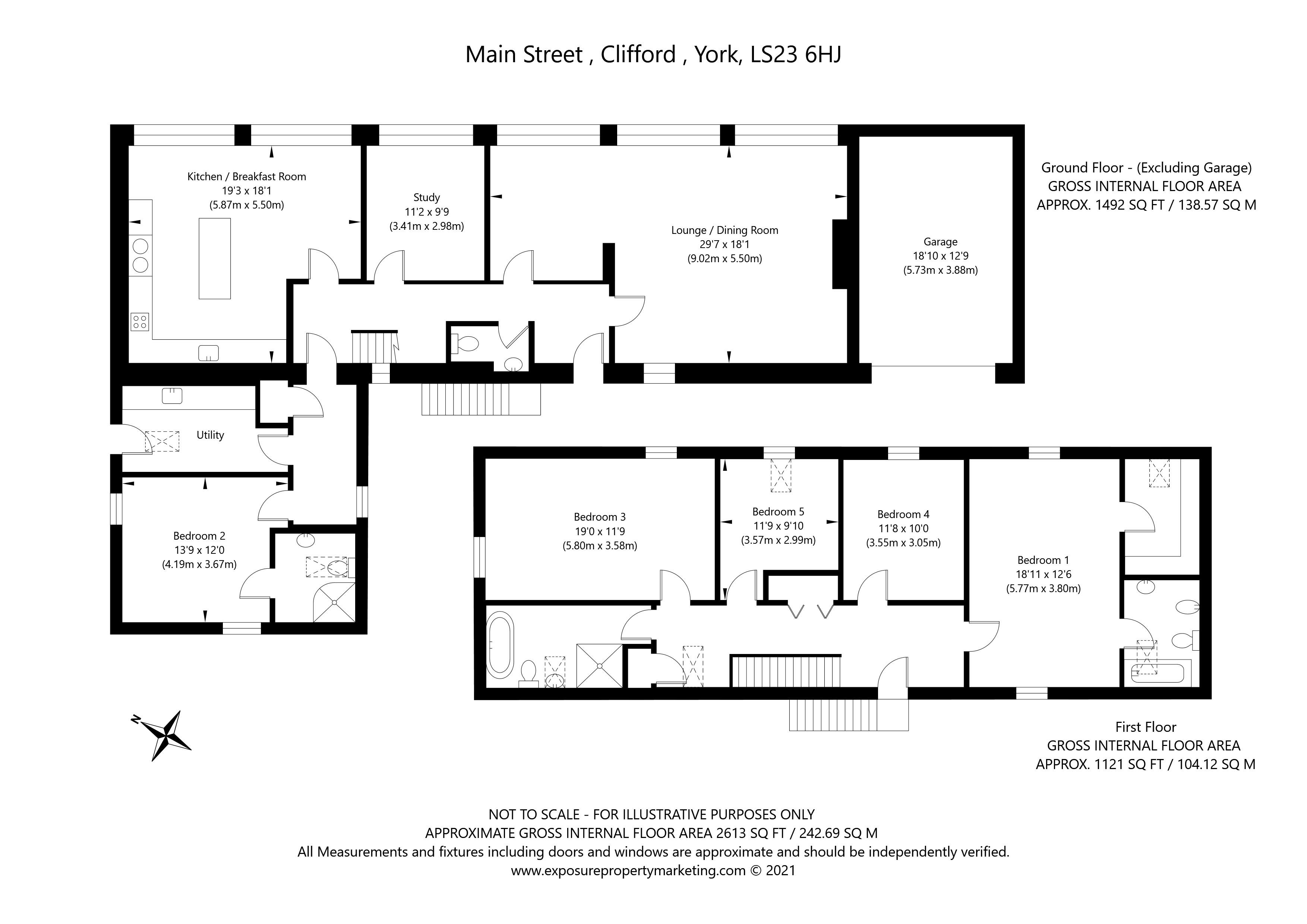High Street, Clifford, Wetherby property floorplan