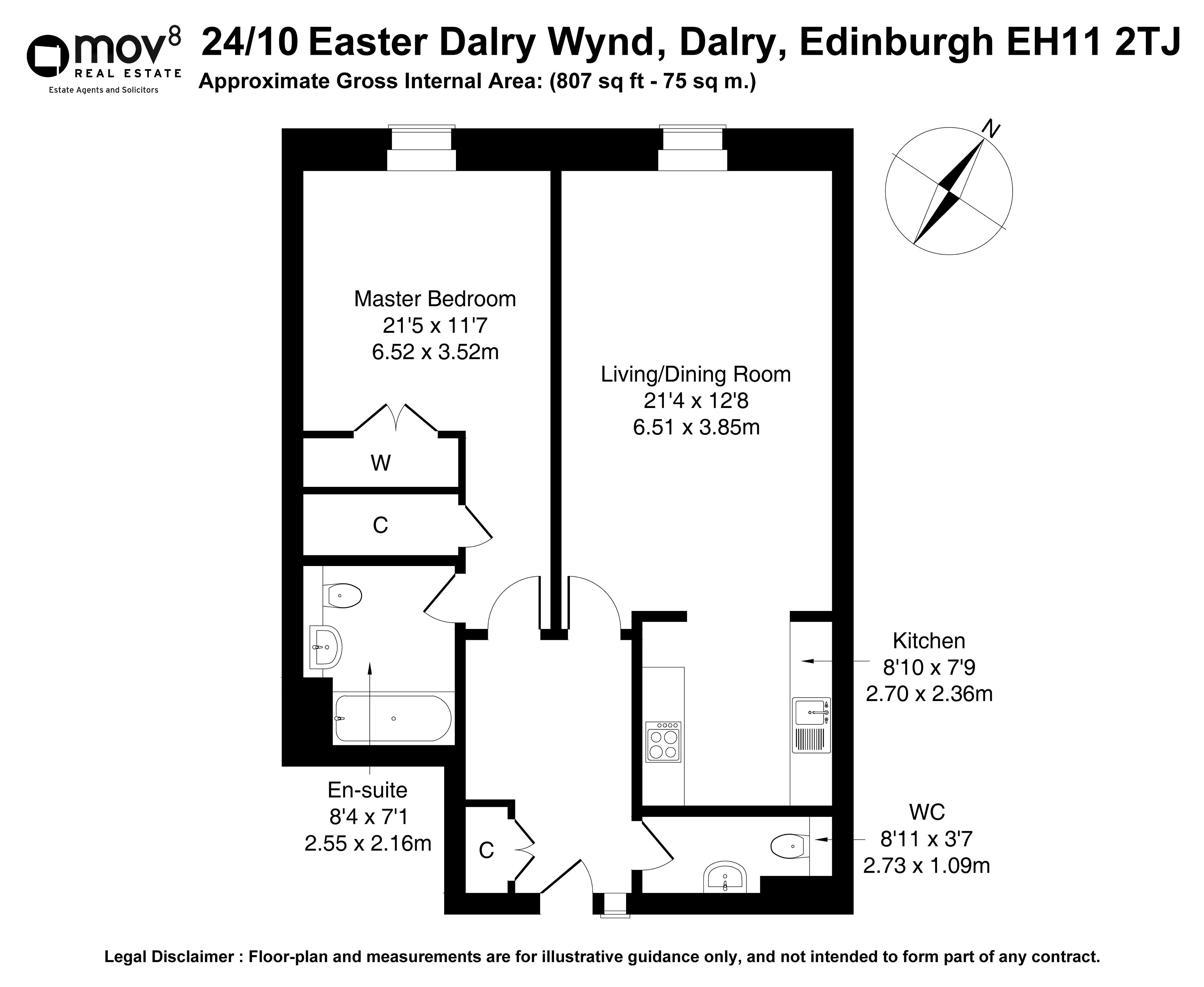 Floorplan 1 of 24/10, Easter Dalry Wynd, Dalry, Edinburgh, EH11 2TJ