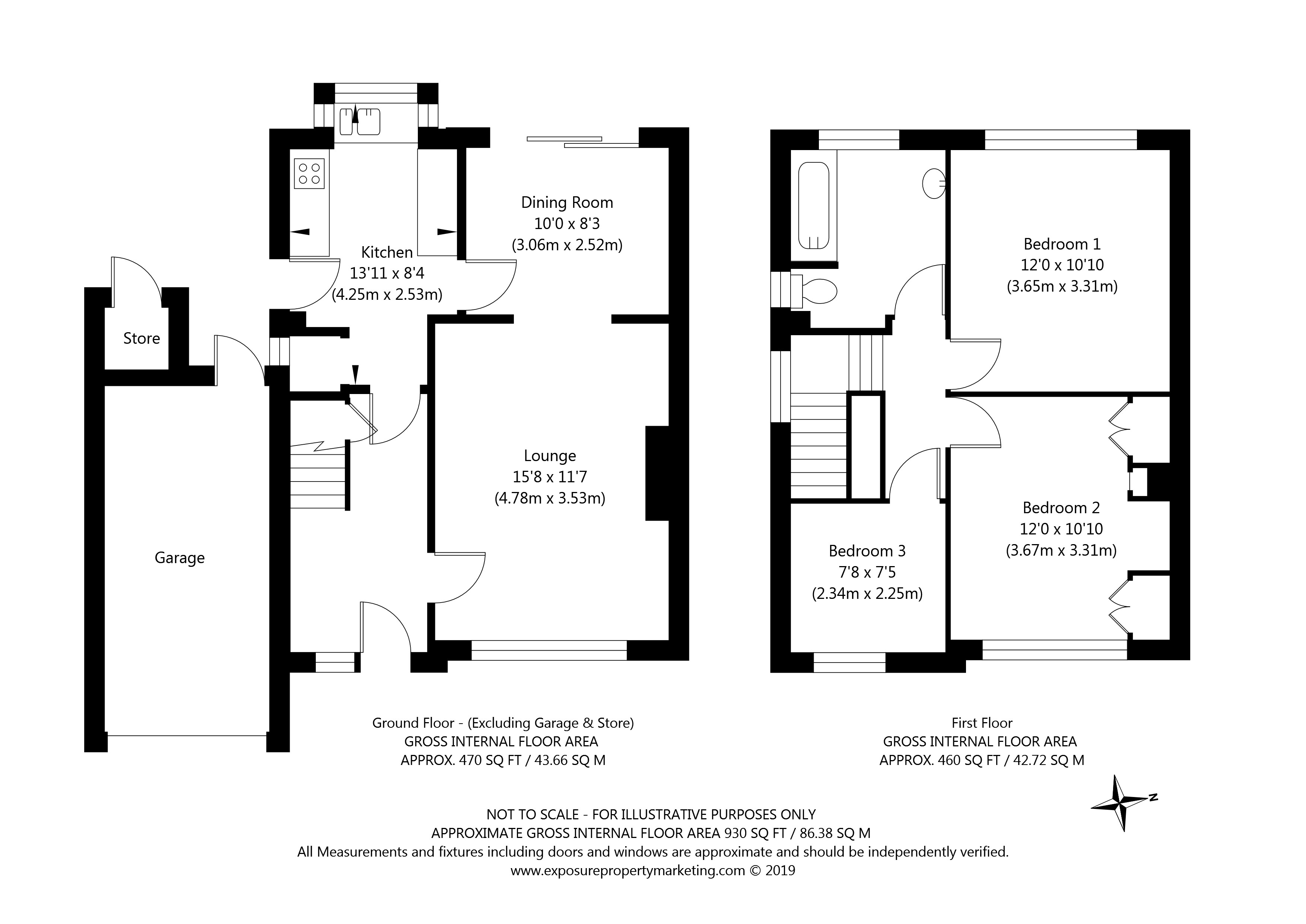 Lynden Way, York property floorplan