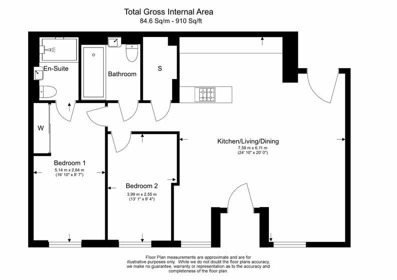 2 bedroom(s) apartment to sale in Colindale Gardens, London-Floorplan
