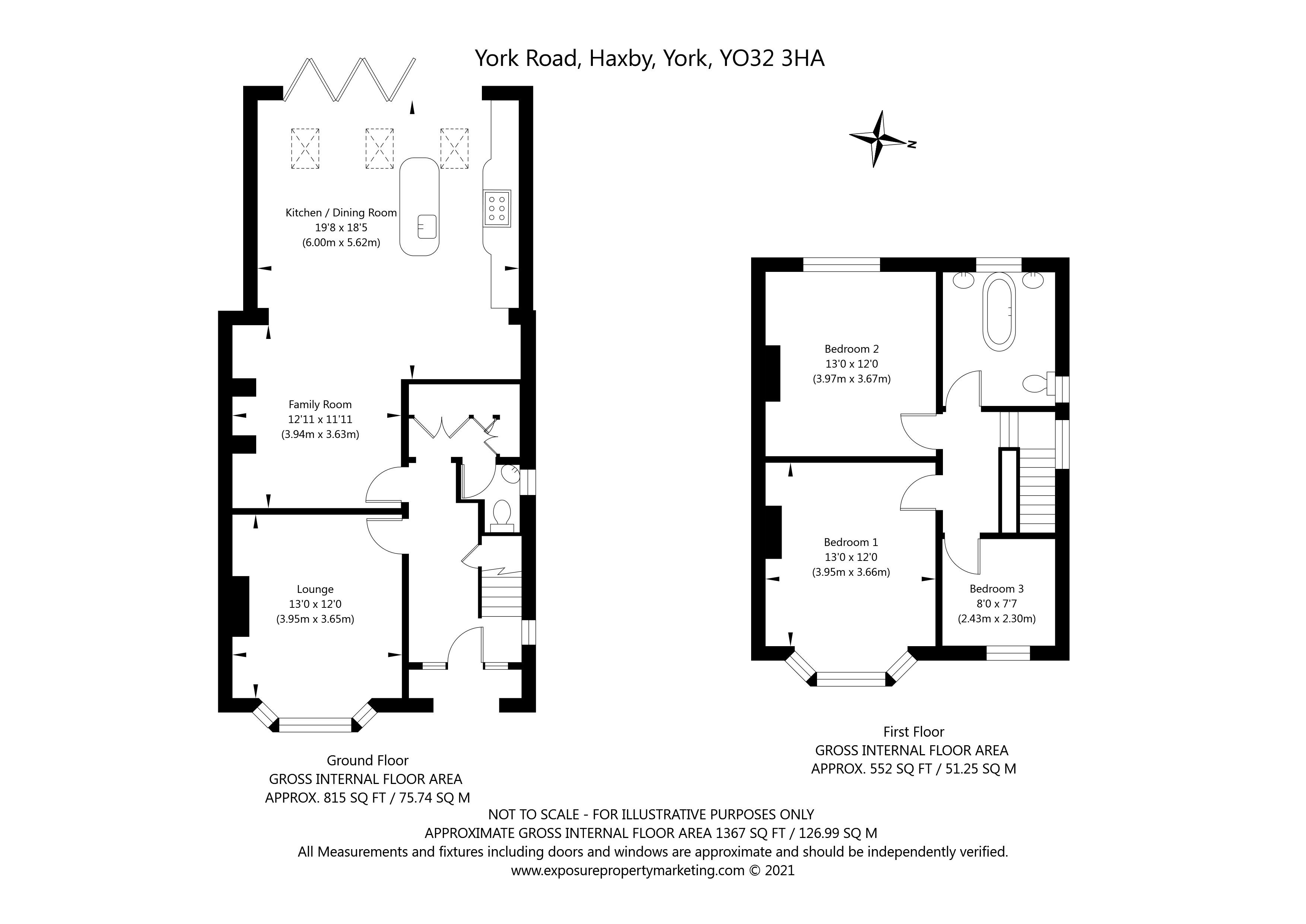 York Road, Haxby, York property floorplan