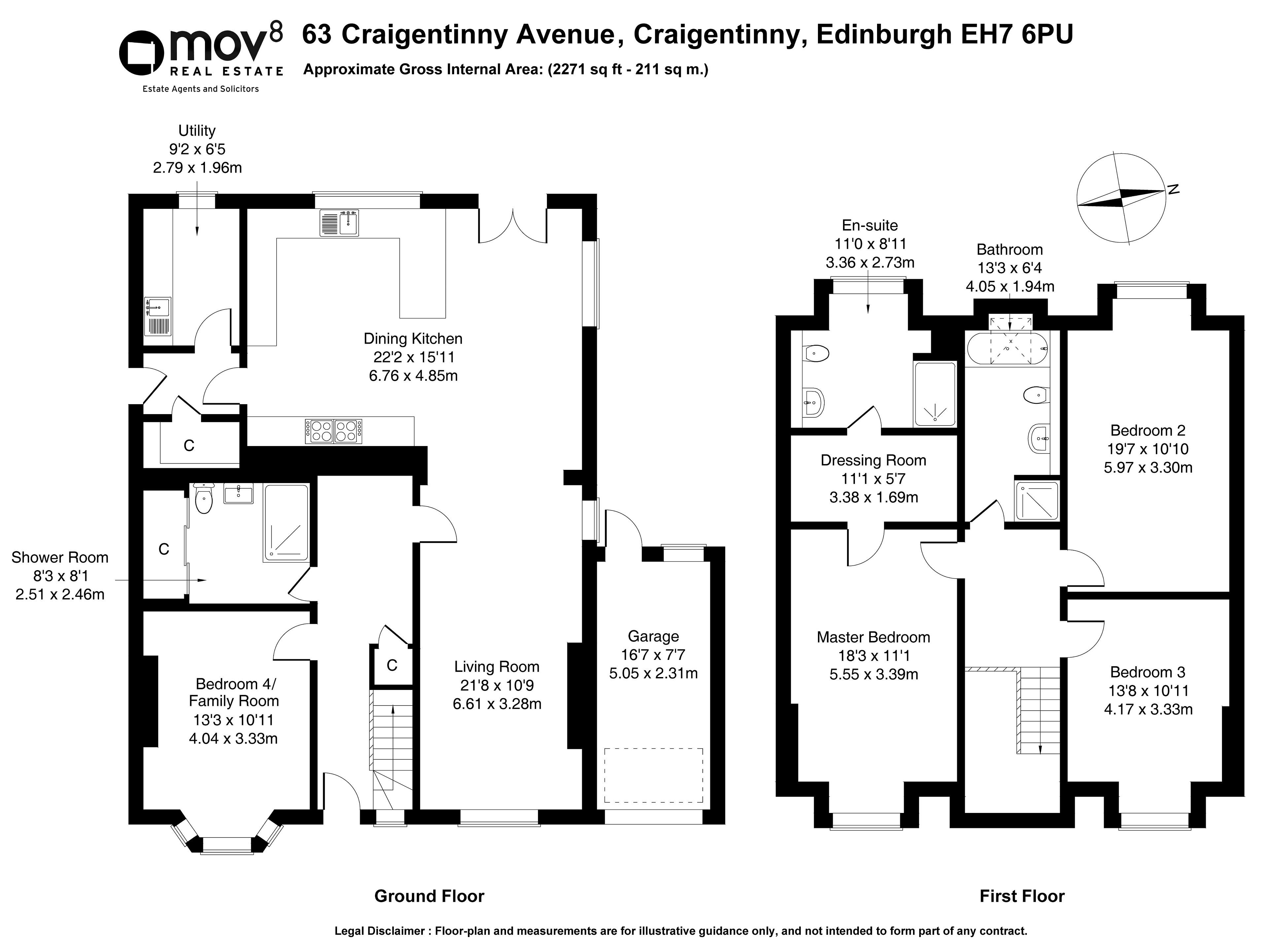 Floorplan 1 of 63 Craigentinny Avenue, Craigentinny, Edinburgh, EH7 6PU
