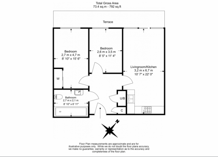 2 bedroom(s) apartment to sale in Napier House, Bromyard Avenue, Acton-Floorplan