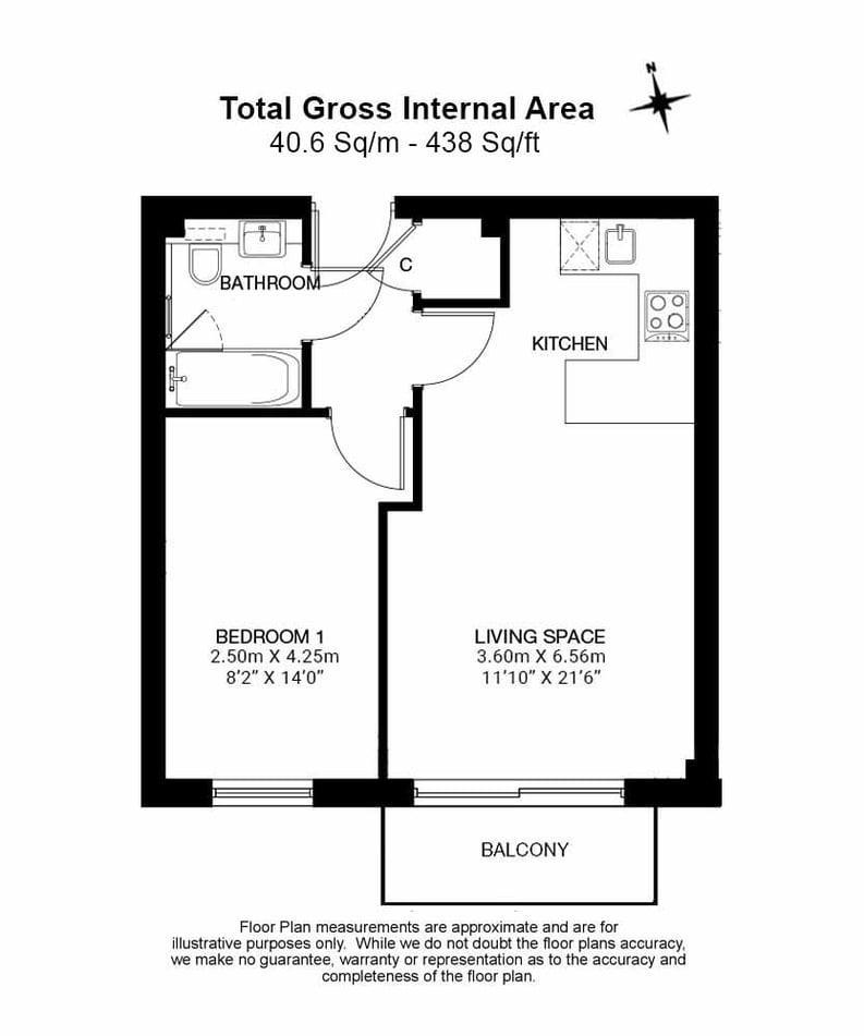 1 bedroom(s) apartment to sale in East Drive, London-Floorplan