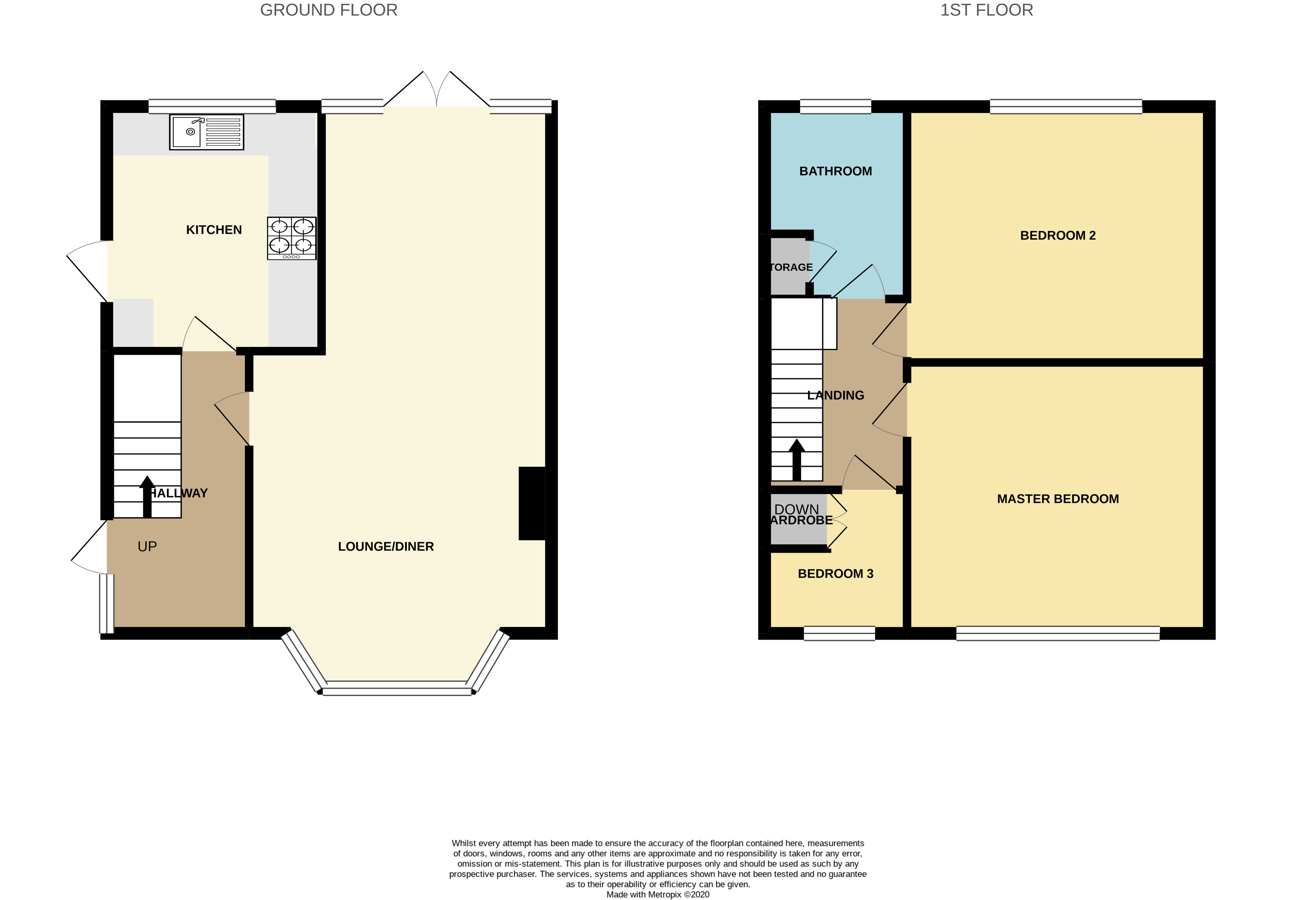 Floorplan for Goldcrest Road, Chipping Sodbury.
